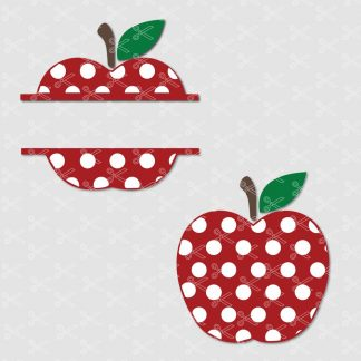 Polka dot apple svg cut file