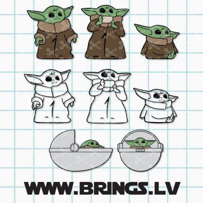 Baby Yoda Silhouette SVG