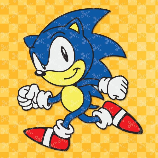 Sonic the hedgehog SVG