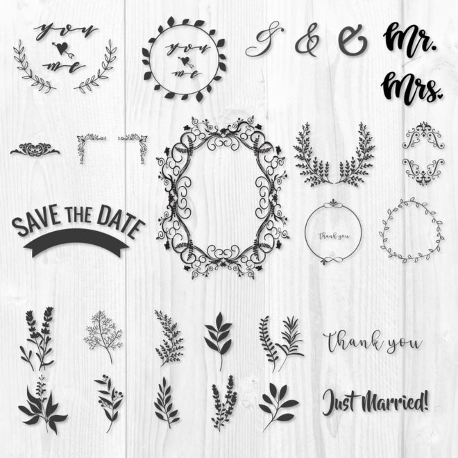 Wedding Frame SVG