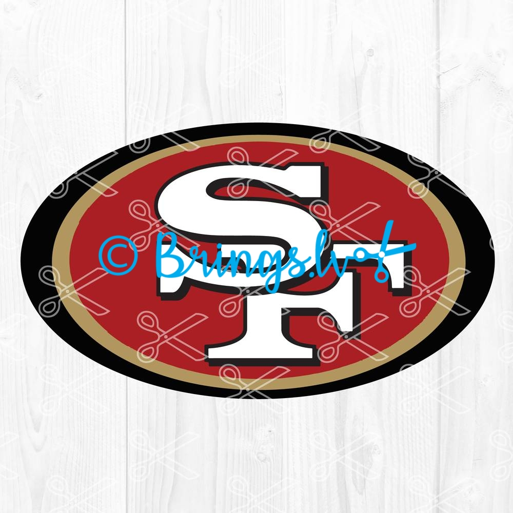 49ers SVG - 49ers SVG, DXF. PNG, EPS, Cut Files - San Francisco 49ers SVG