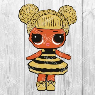Bumblebee Queen Bee LOL Doll SVG