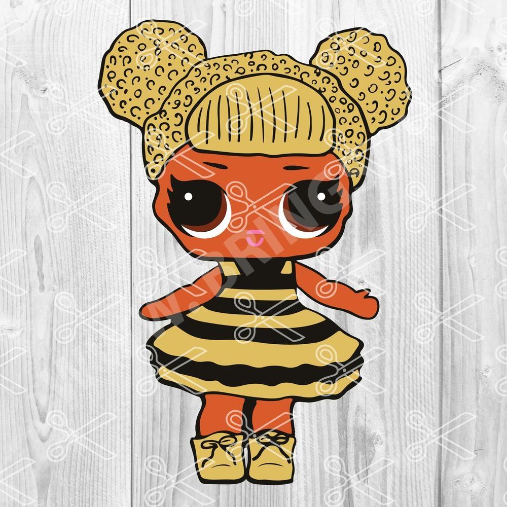 Bumblebee Queen Bee LOL Doll SVG