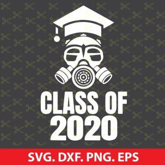 Class of 2020 Quarantine Seniors Gas Mask SVG