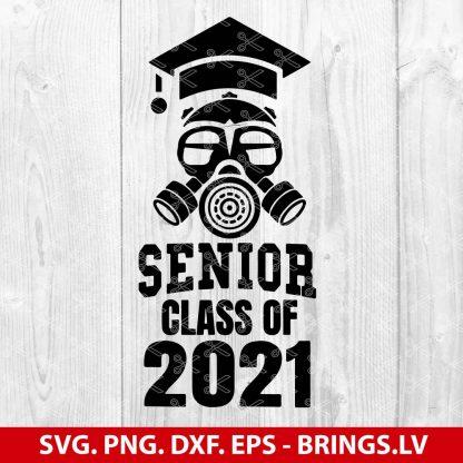 Class of 2021 Quarantine Seniors Gas Mask SVG