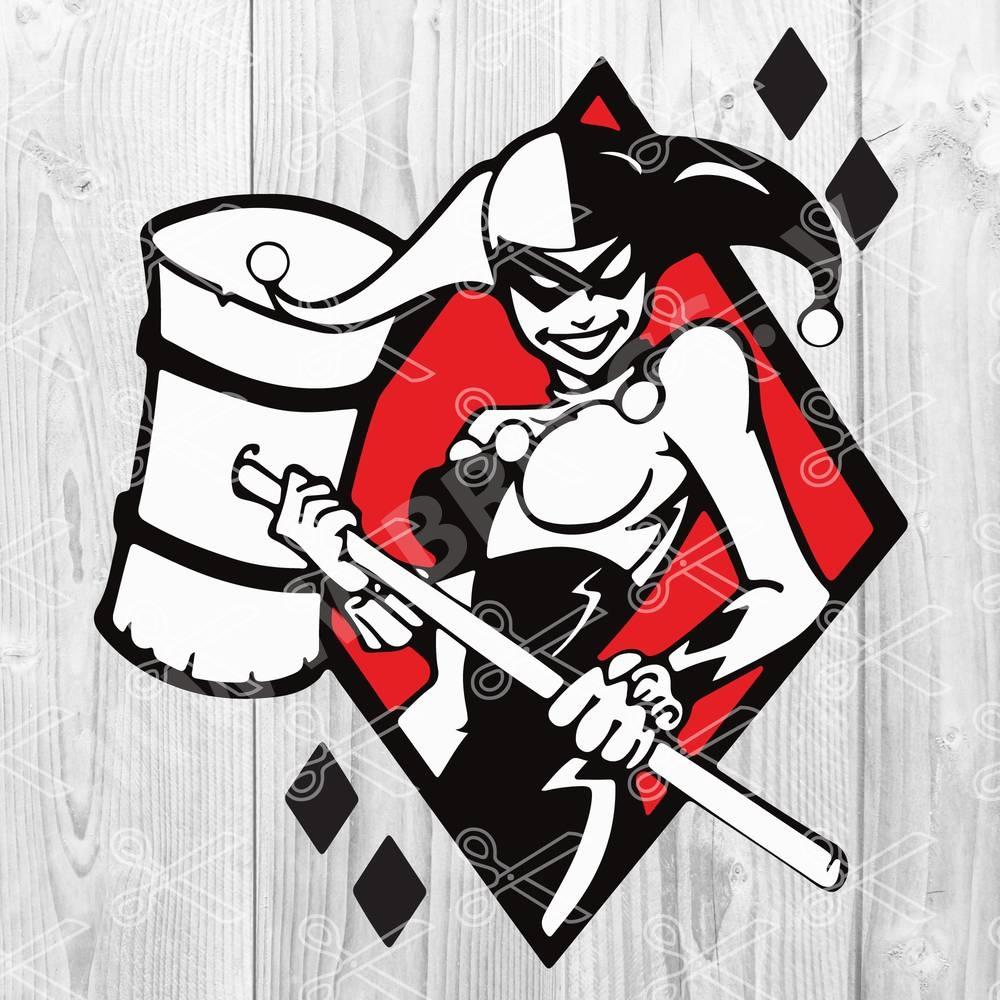 Harley Quinn SVG - Harley Quinn SVG, DXF, PNG, EPS, Cut Files - Batman Joker SVG