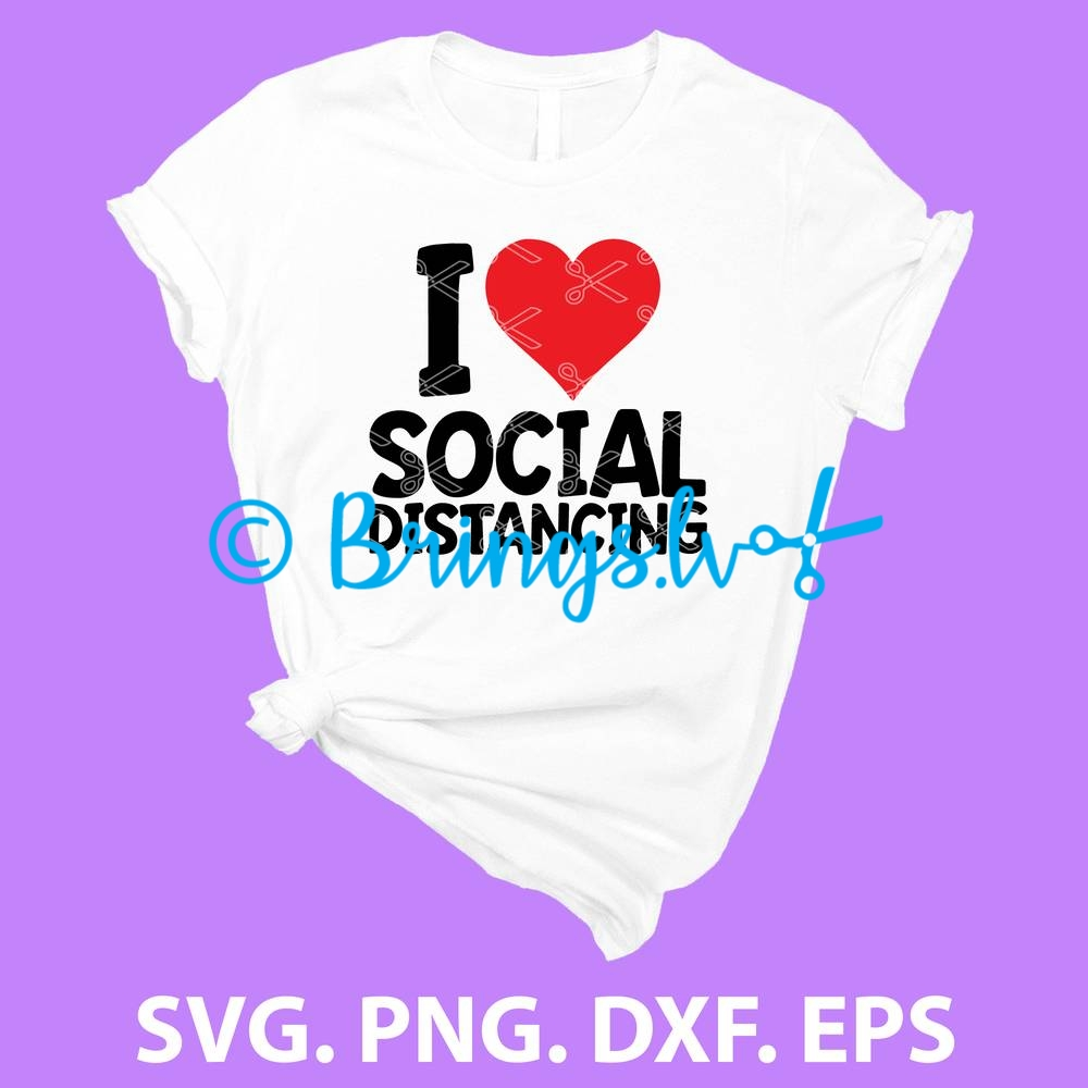 Love Social Distancing SVG