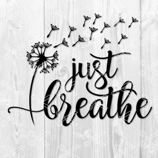 Just Breathe SVG File