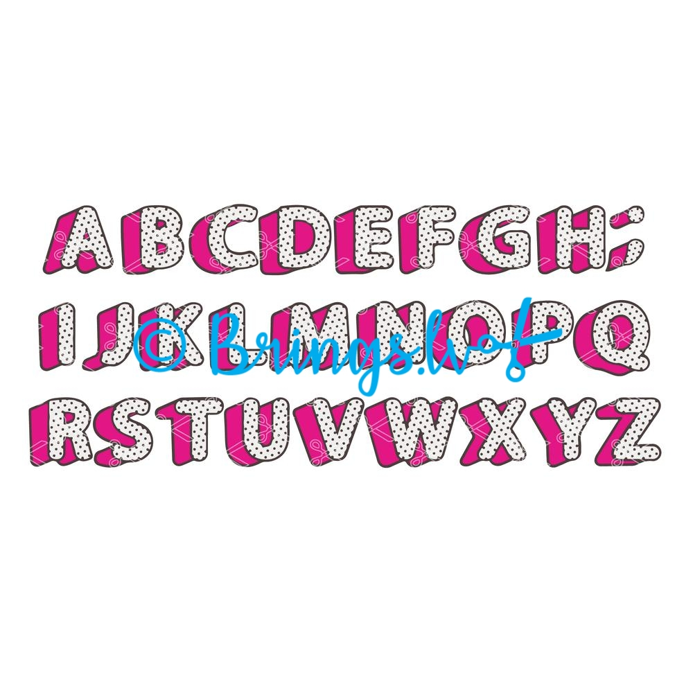 Lol girly doll abc polka dots alphabet letters