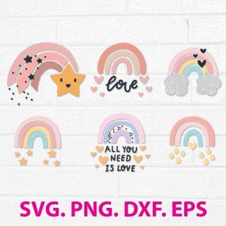Rainbow SVG Cut File
