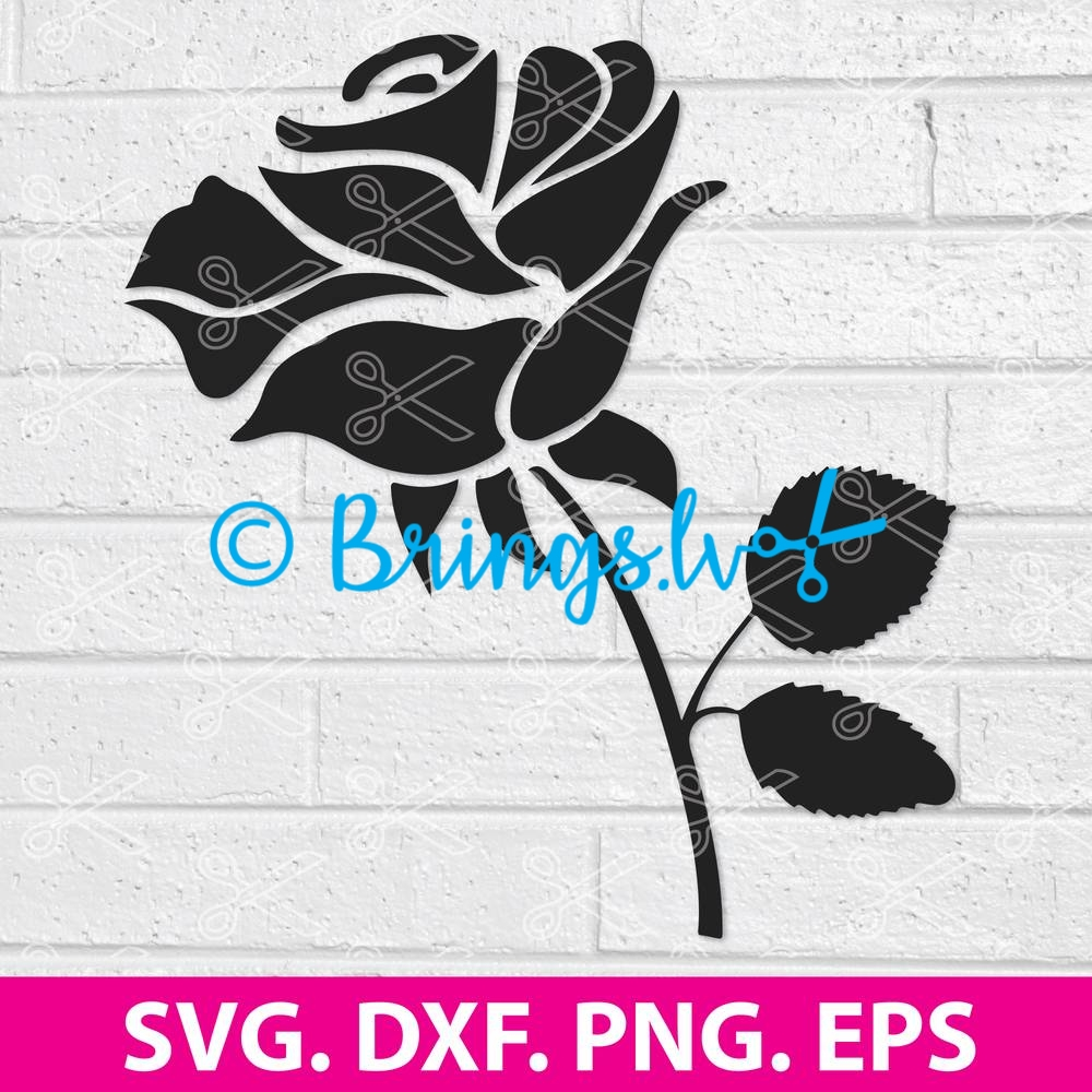 Rose SVG Cut File