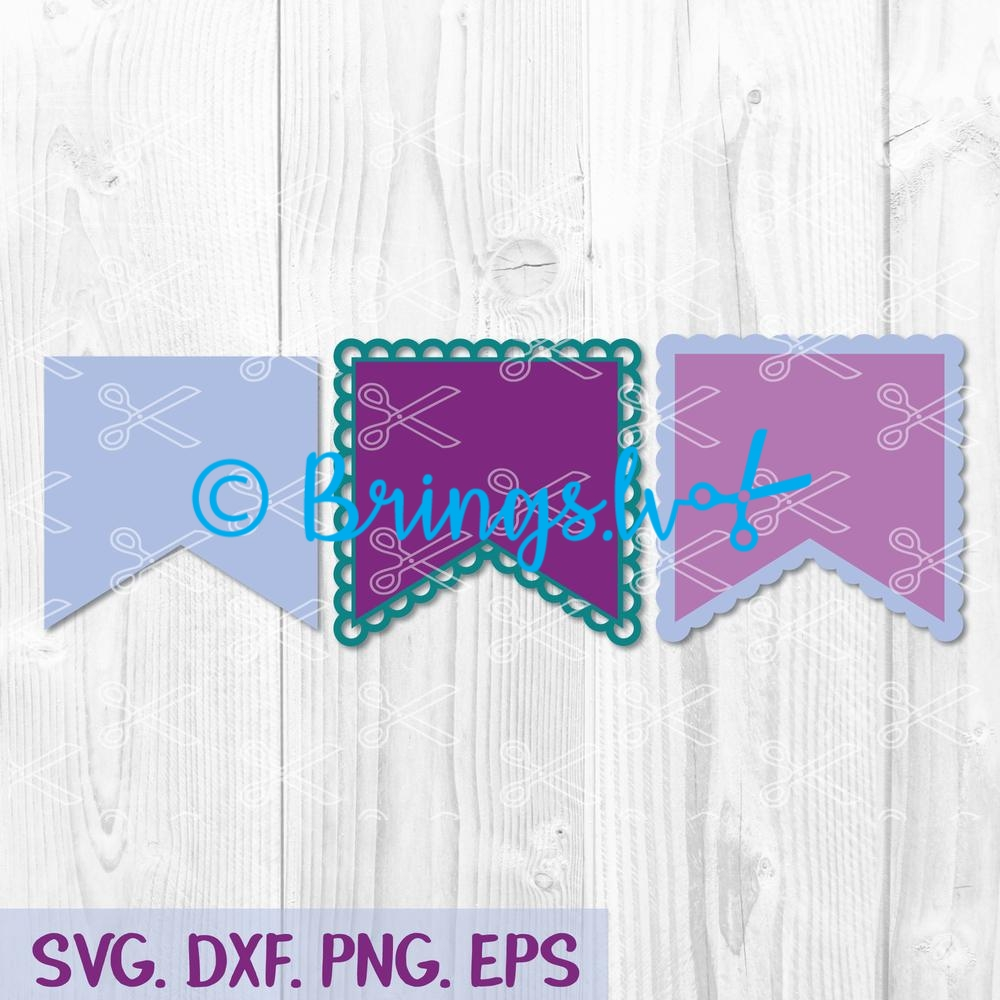 Scalloped banners svg