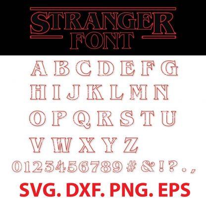 Stranger Things Font SVG