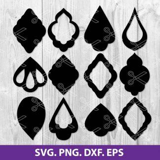 Teardrop Earrings SVG