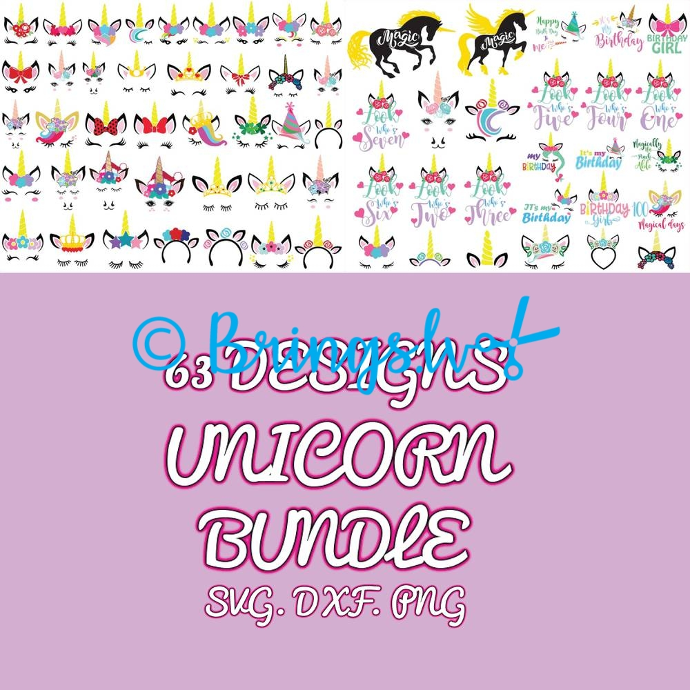 Unicorn Bundle SVG