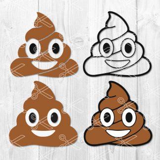 Poop emoji SVG