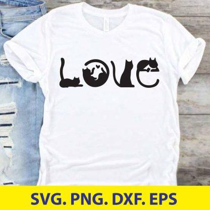 CAT LOVE SVG CUT FILE
