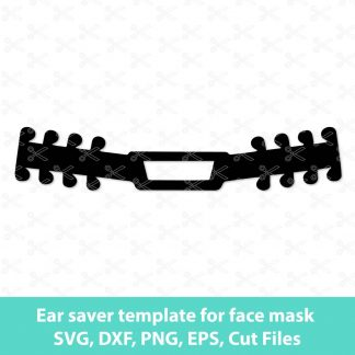 Ear saver template for face mask SVG