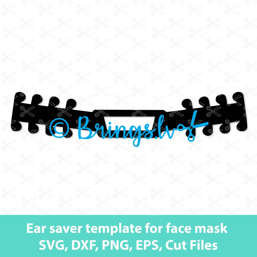 Ear Saver Template For Face Mask Archives High Quality Vector Design Svg Dxf Png Cut Files