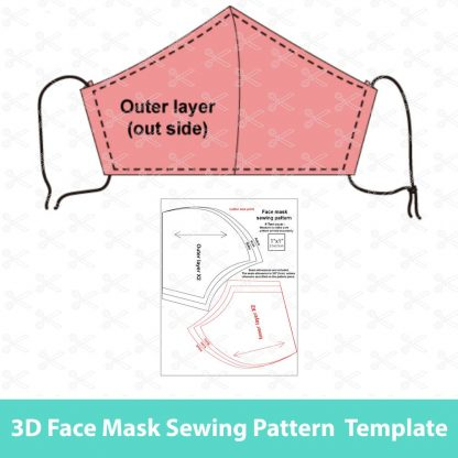 Face mask sewing pattern and tutorial