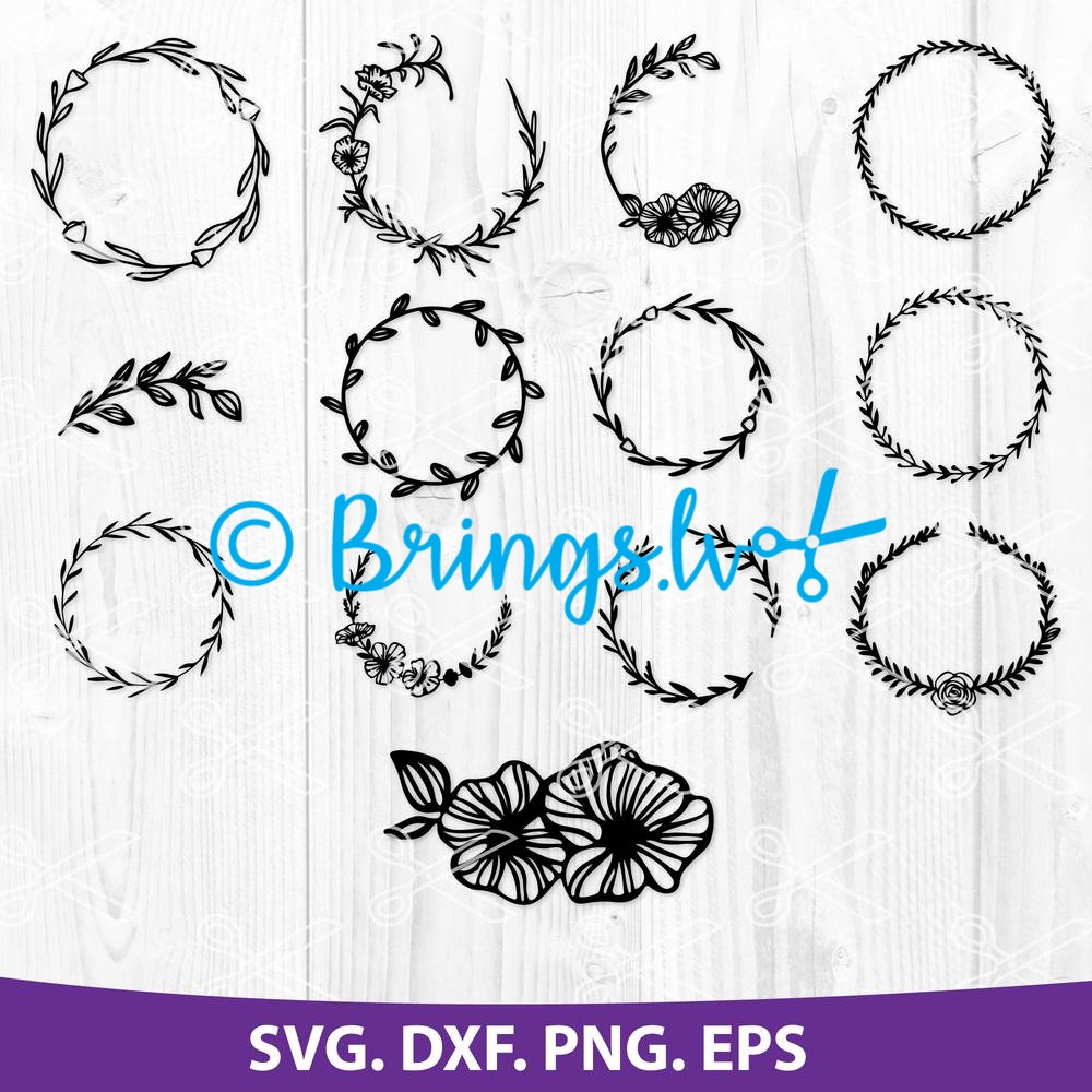 Floral wreath SVG