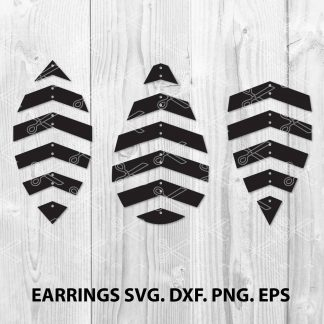 Geometric earring SVG