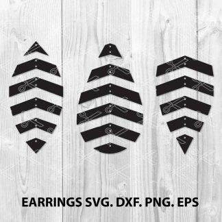 Geometric earring SVG