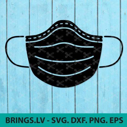 Medical Mask SVG Cut File