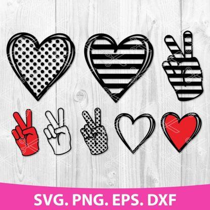 PEACE LOVE SVG CUT FILE