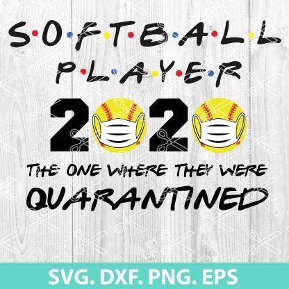 SOFTBALL PLAYER 2020 QUARANTINED SVG