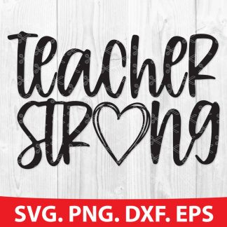 Teacher Strong SVG