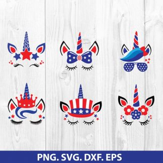 4th of july unicorn SVG