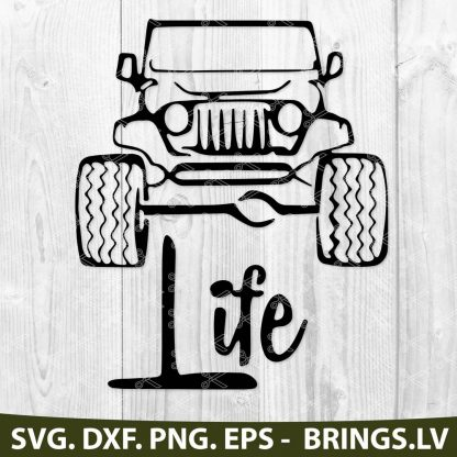 4x4 Jeep Life SVG