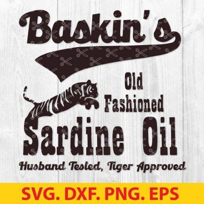 Baskins old fashioned sardine oil SVG