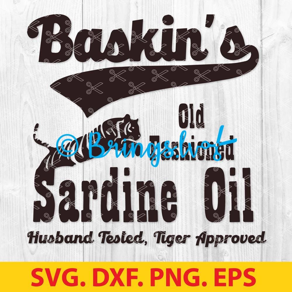 Baskins old fashioned sardine oil SVG