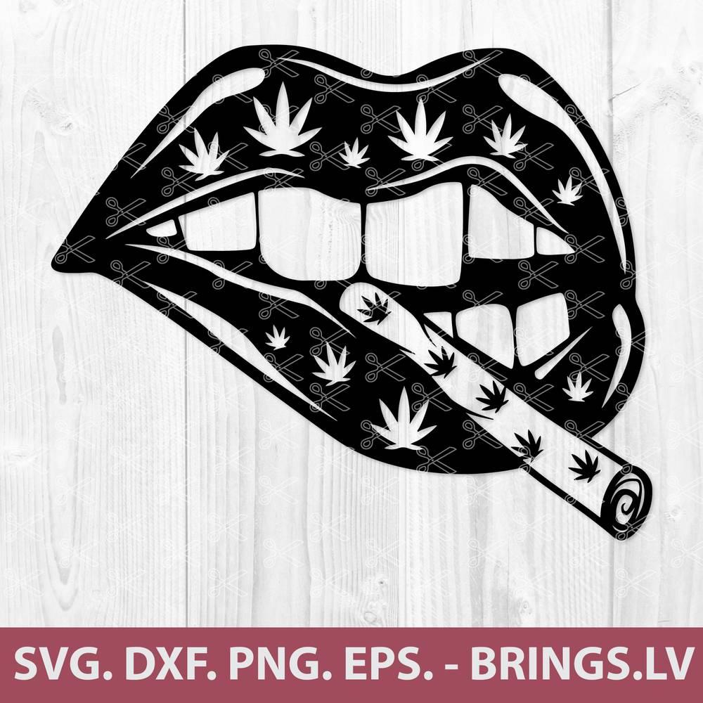 Smoking Lips SVG