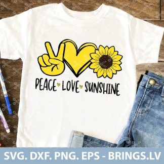 Peace Love Sunshine SVG
