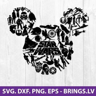 Star Wars Mickey SVG