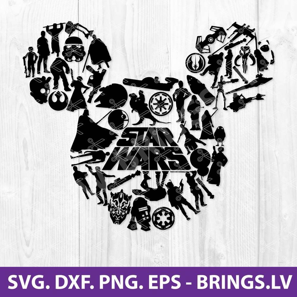 Star Wars Mickey SVG
