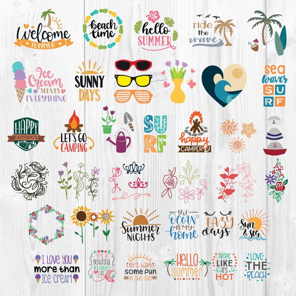 Summer Svg Bundle Png Ai Cut Files 270 Designs