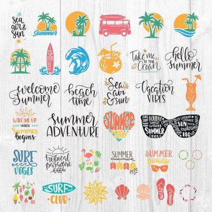 Huge Summer SVG Bundle