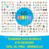 Huge Summer SVG Bundle | Summer SVG | Summer SVG File for Cricut | Silhouette | Beach SVG