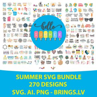 Summer SVG Bundle Cut File