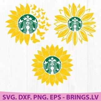 Sunflower Starbucks Coffee SVG