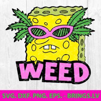 Weed SpongeBob SVG