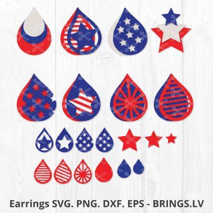 4TH JULY EARRING SVG
