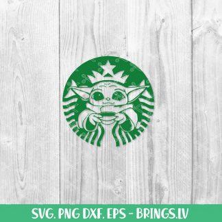 Baby Yoda Starbucks SVG