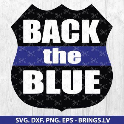 Back The Blue SVG