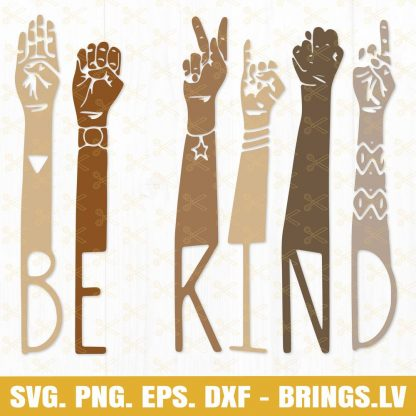Be kind hand svg