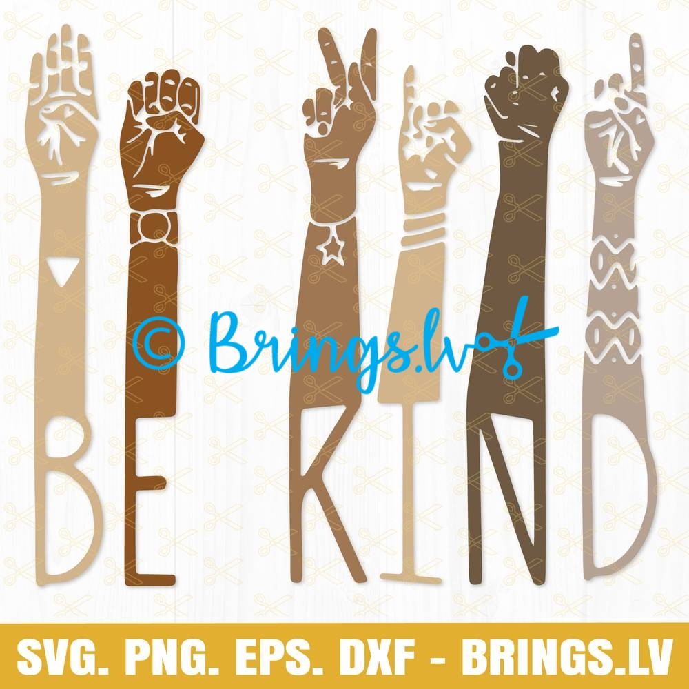 Be kind hand svg